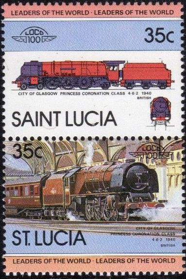 St Lucia 1983 Leaders of the World - LOCO 100
