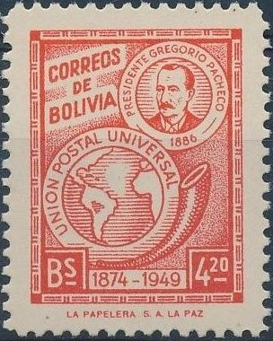 Bolivia 1950 75th Anniversary of the UPU b.jpg