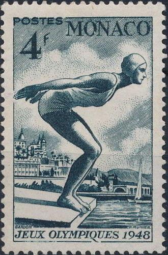 Monaco 1948 Summer Olympics, London - Regular Stamps e.jpg