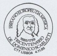 Portugal 1985 European Year of Music-Tercentenary of Domenico Scarlatti PMa