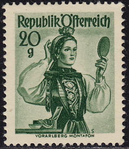 Austria 1948 Provincial Costumes (1st Group)