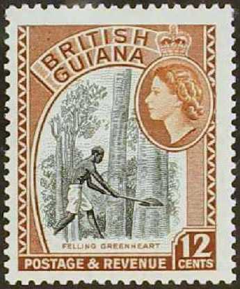 British Guiana 1954 Elizabeth II and Local Scenes h.jpg