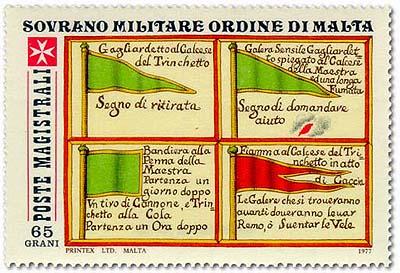 Sovereign Military Order of Malta 1977 Antiche Segnalazioni Delle Marinerie Dell'Ordine