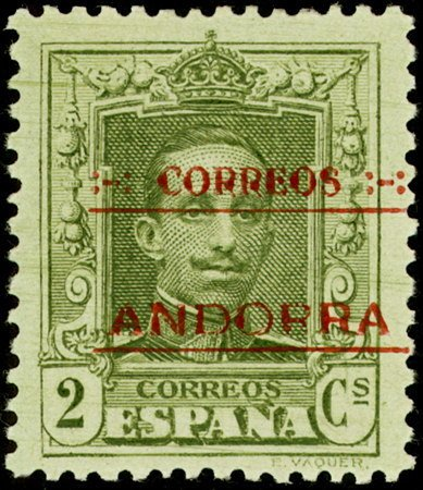 Andorra-Spanish 1928 Alfonso XIII from Spain Overprinted