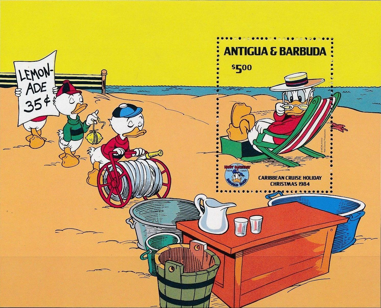 Antigua and Barbuda 1984 Disney - Christmas - 50th Anniversary of the Birth of Donald Duck m.jpg