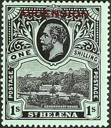 """Ascension 1922 Stamps of St. Helena Overprinted """"ASCENSION"""" j.jpg"""