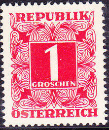 Austria 1949 Postage Due Stamps - Square frame with digit (1st Group)