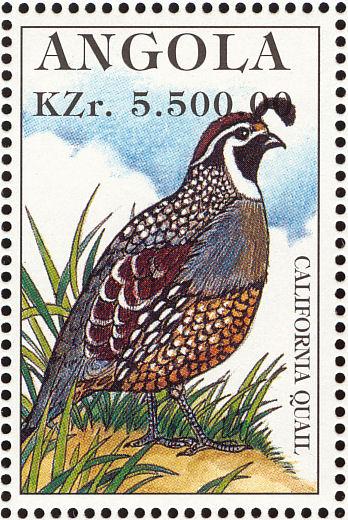 Angola 1996 Hunting Birds