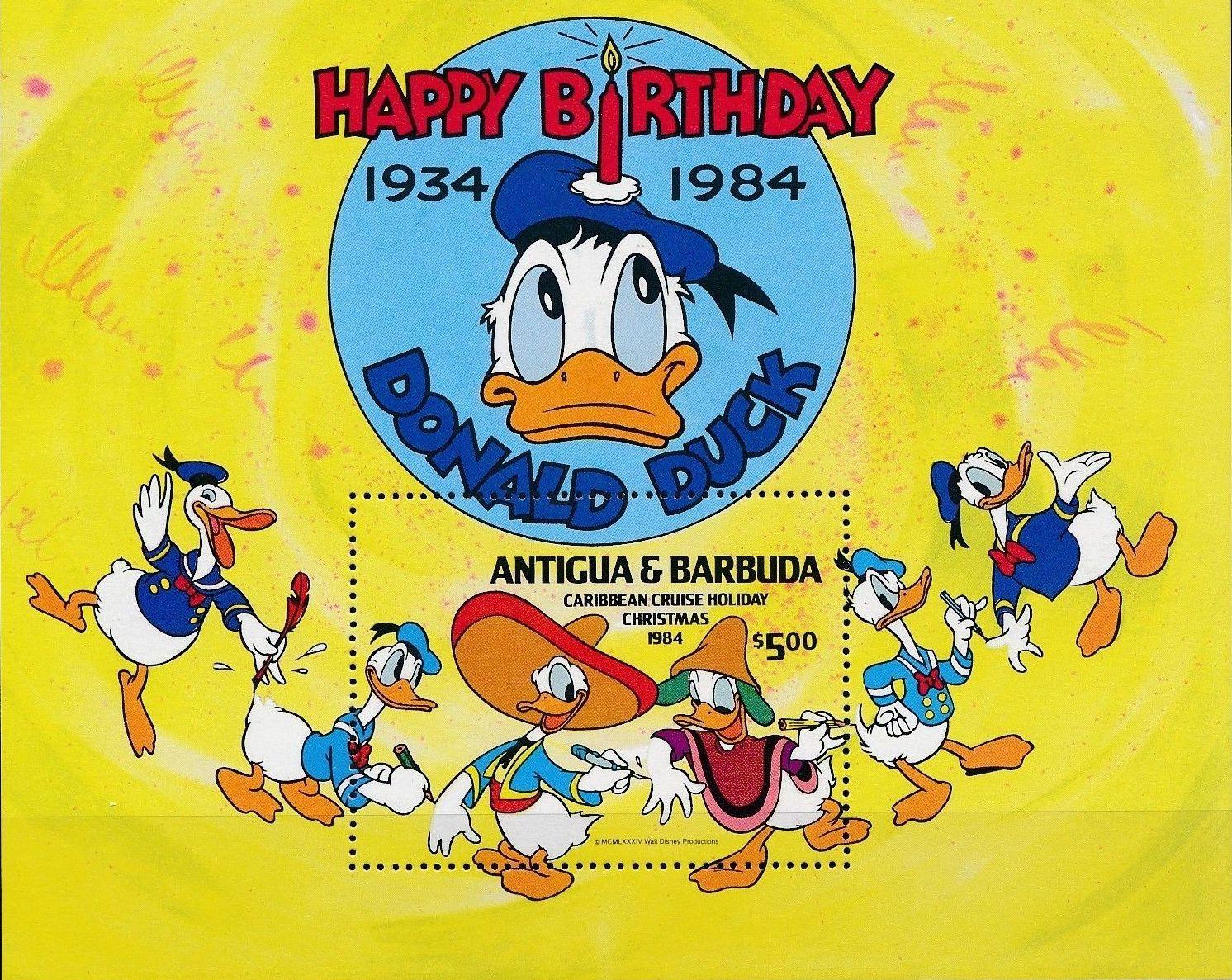 Antigua and Barbuda 1984 Disney - Christmas - 50th Anniversary of the Birth of Donald Duck l.jpg