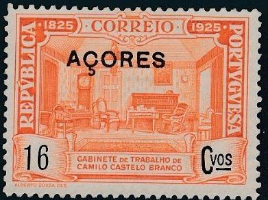 Azores 1925 Birth Centenary of Camilo Castelo Branco h.jpg