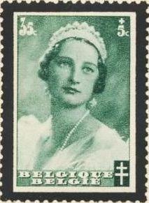 Belgium 1935 Queen Astrid Memorial Issue c.jpg