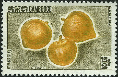 Cambodia 1962 Fruits