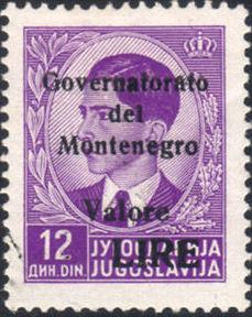 Montenegro 1941 Yugoslavia Stamps Surcharged under Italian Occupation h.jpg