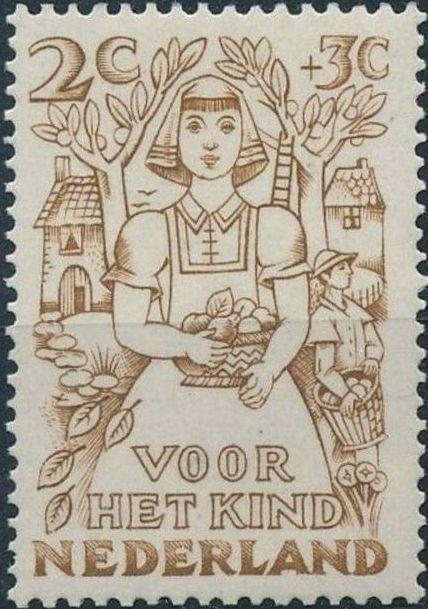 Netherlands 1949 Surtax for Child Welfare