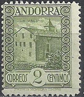 Andorra-Spanish 1929 Local Motifs