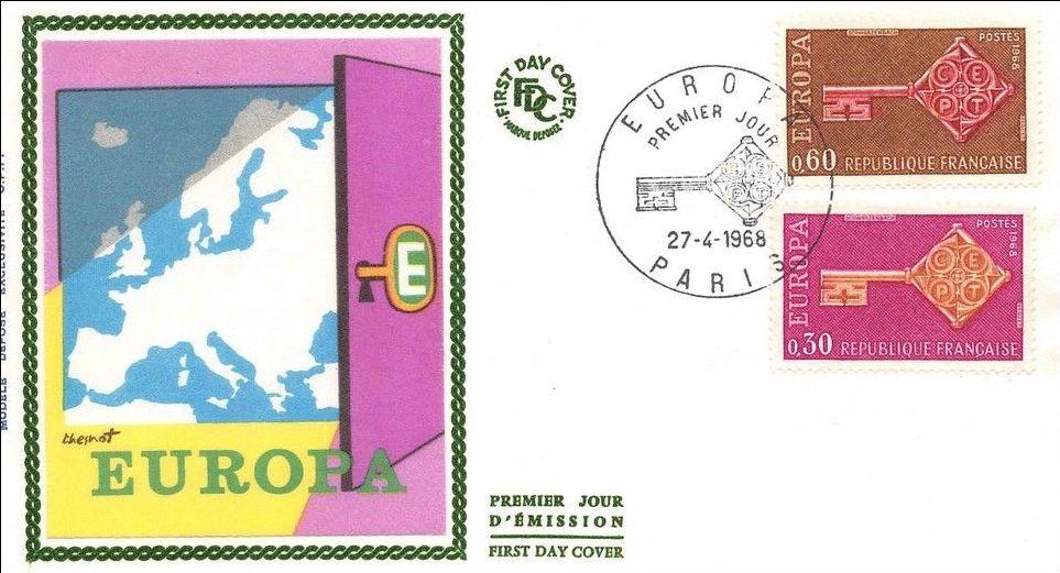 France 1968 EUROPA FDCa.jpg