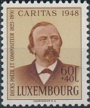 Luxembourg 1948 Edmond de La Fontaine