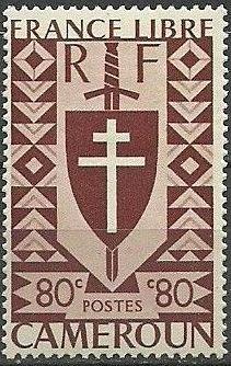 Cameroon 1941 Lorraine Cross and Joan of Arc Shield f.jpg
