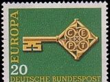 Germany, Federal Republic 1968 Europa