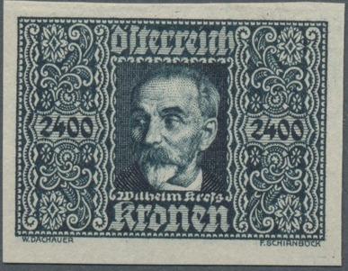 Austria 1922 Air Post Stamps (Common Kestrel and Wilhelm Kress) 1st Group j.jpg