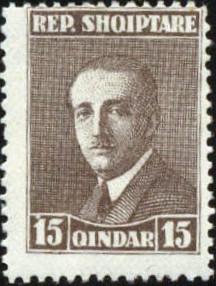 Albania 1925 President Ahmed Zogu e.jpg