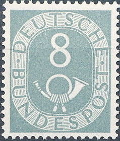Germany, Federal Republic 1951 Posthorn and Numbers e.jpg