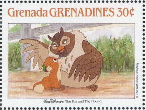 Grenada Grenadines 1988 The Disney Animal Stories in Postage Stamps 2a.jpg
