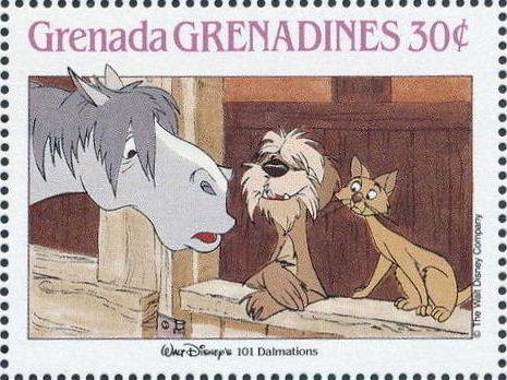Grenada Grenadines 1988 The Disney Animal Stories in Postage Stamps 3e.jpg