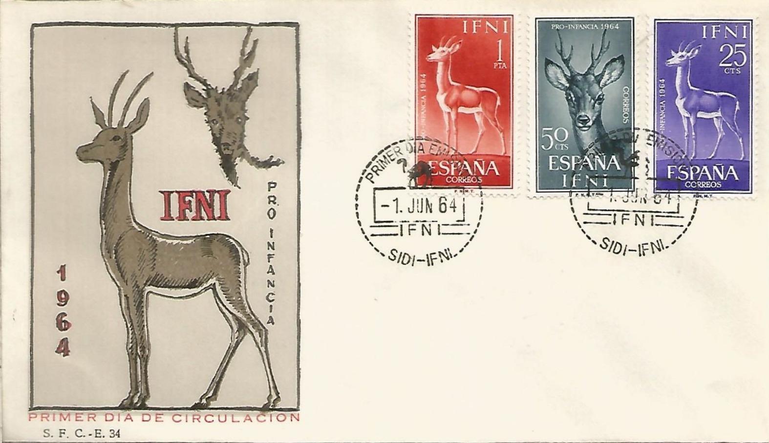 Ifni 1964 Child Welfare - Regular Stamps FDCa.jpg