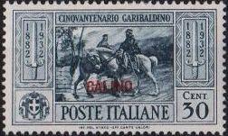 Italy (Aegean Islands)-Calino 1932 50th Anniversary of the Death of Giuseppe Garibaldi d.jpg