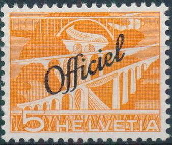 Switzerland 1950 Engineering - Switzerland Postage Stamps of 1949 Overprinted Officiel