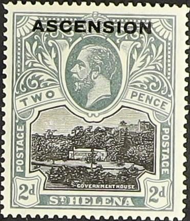 """Ascension 1922 Stamps of St. Helena Overprinted """"ASCENSION"""" d.jpg"""