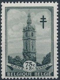 Belgium 1939 Anti Tuberculosis - Belfries d.jpg