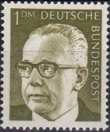 Germany, Federal Republic 1970 President Gustav Heinemann (1st Group) b.jpg