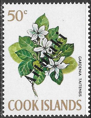 Aitutaki 1972 Flowers from Cook Islands Overprinted AITUTAKI i.jpg