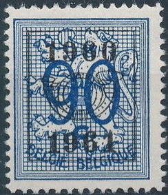 Belgium 1960 Heraldic Lion with Precanceled Number l.jpg