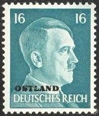 German Occupation-Russia Ostland 1941 Stamps of German Reich Overprinted in Black j.jpg