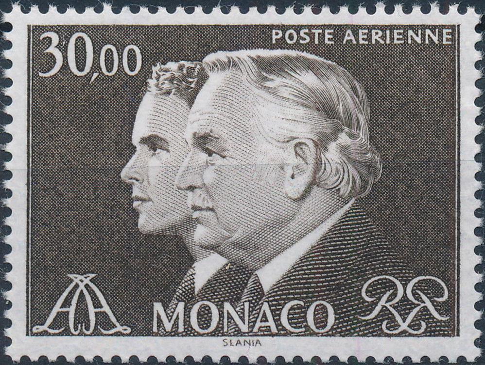 Monaco 1984 Prince Rainier and Prince Albert (Air Post Stamps)