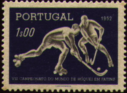 Portugal 1952 8th World Championship Hockey-on-Skates