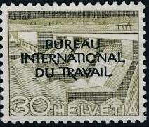 Switzerland 1950 Landscapes and Technology Official Stamps for The International Labor Bureau f.jpg