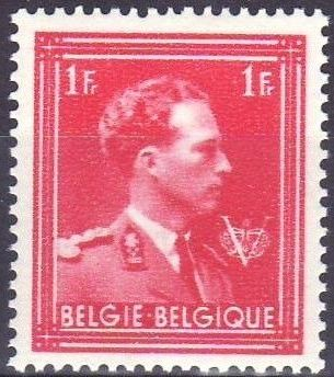 Belgium 1944 King Leopold III Crown and V