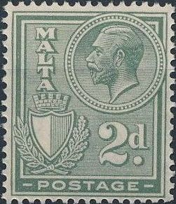 Malta 1926 King George V and Coat of Arms e.jpg