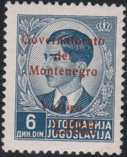 Montenegro 1941 Yugoslavia Stamps Surcharged under Italian Occupation o.jpg