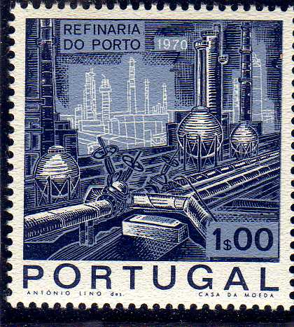 Portugal 1970 Opening of the Oil Refinery in Porto