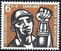 Saar 1957 For Welfare Organizations (Coal Mining)