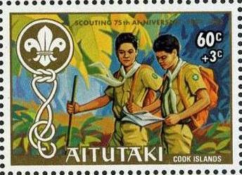 Aitutaki 1983 75th Anniversary of Scouting (Semi-Postal Stamps) c.jpg