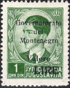 Montenegro 1941 Yugoslavia Stamps Surcharged under Italian Occupation a.jpg