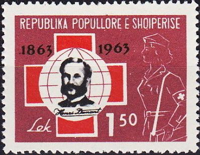 Albania 1963 100th Anniversary of Red Cross