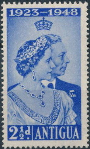 Antigua 1949 Silver Wedding of King George VI & Queen Elizabeth