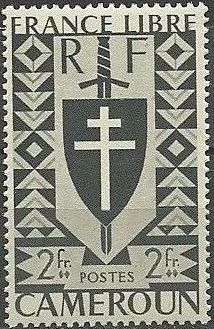 Cameroon 1941 Lorraine Cross and Joan of Arc Shield i.jpg